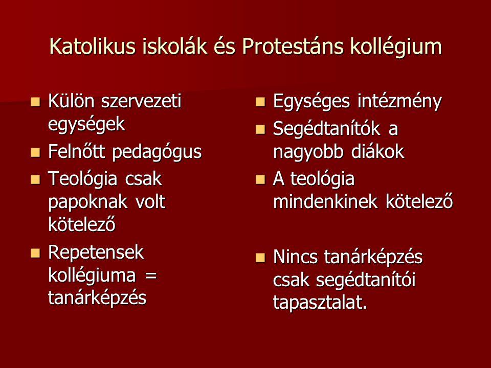 Katolikus iskolák és Protestáns kollégium