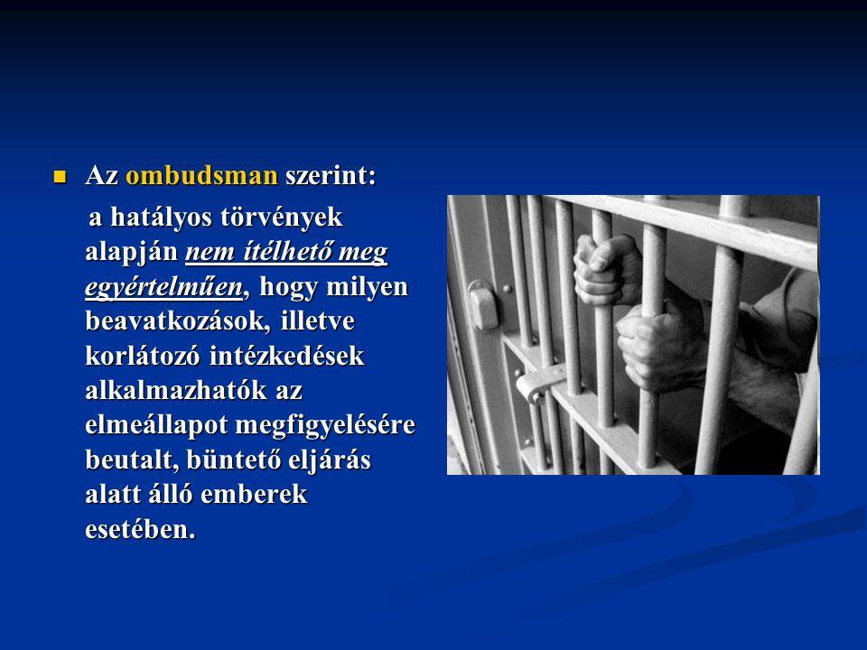 Az ombudsman szerint: