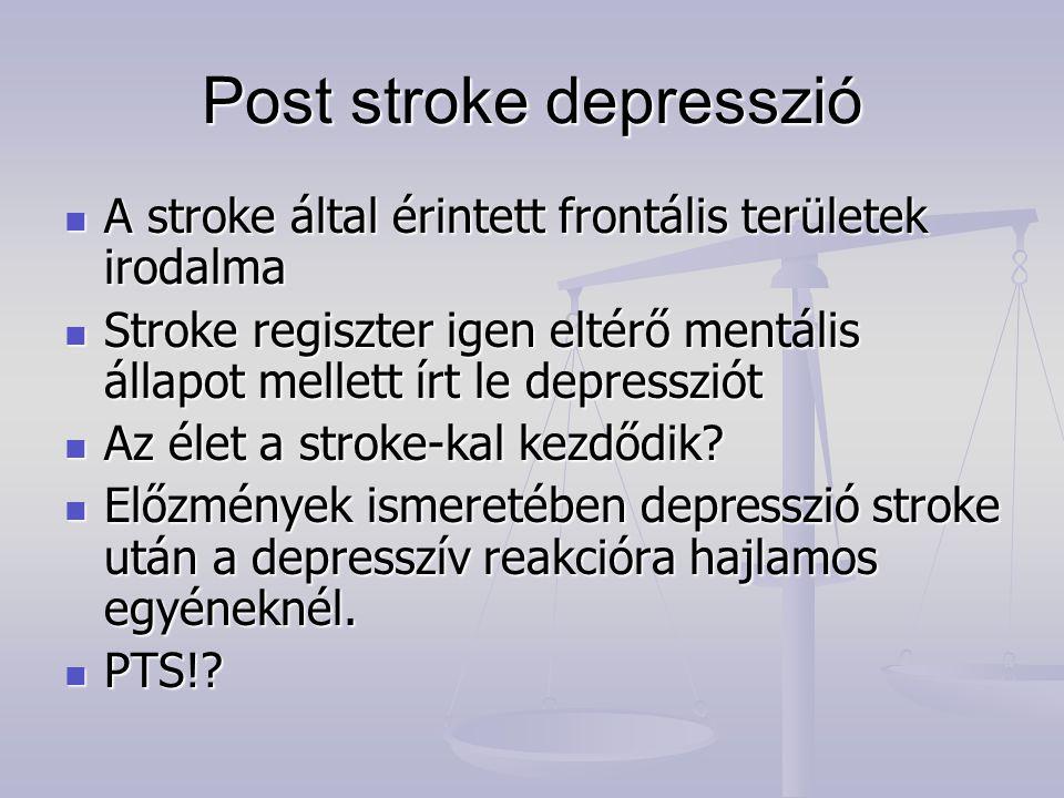 Post stroke depresszió