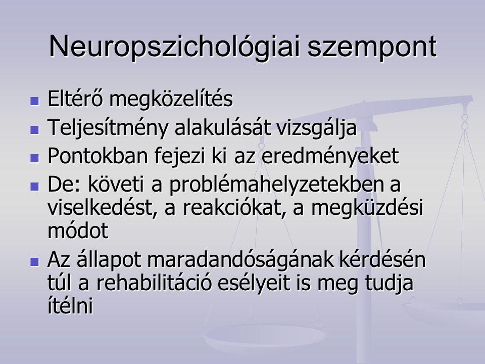 Neuropszichológiai szempont