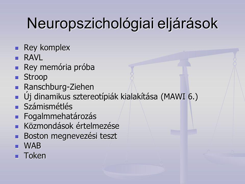 Neuropszichológiai eljárások