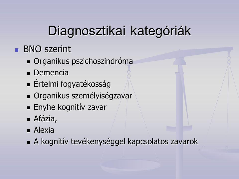 Diagnosztikai kategóriák