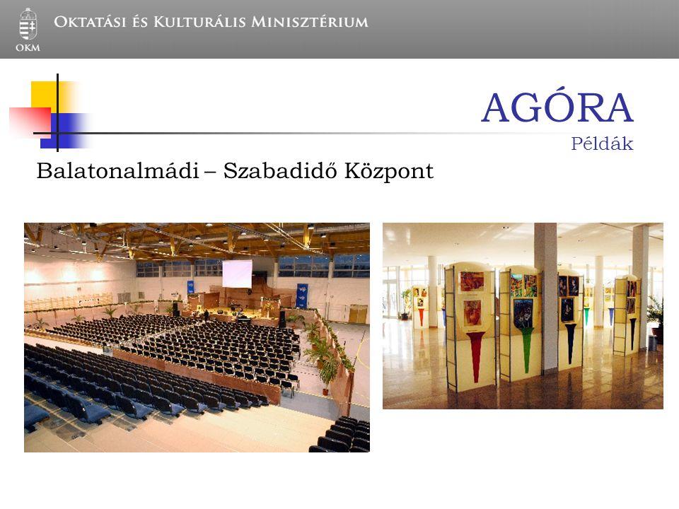 AGÓRA Példák Balatonalmádi – Szabadidő Központ