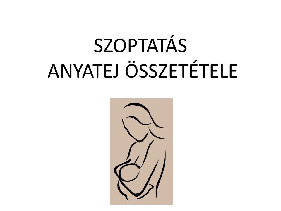 SZOPTATÁS ANYATEJ ÖSSZETÉTELE