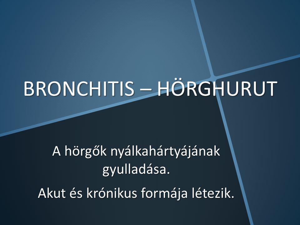 BRONCHITIS – HÖRGHURUT