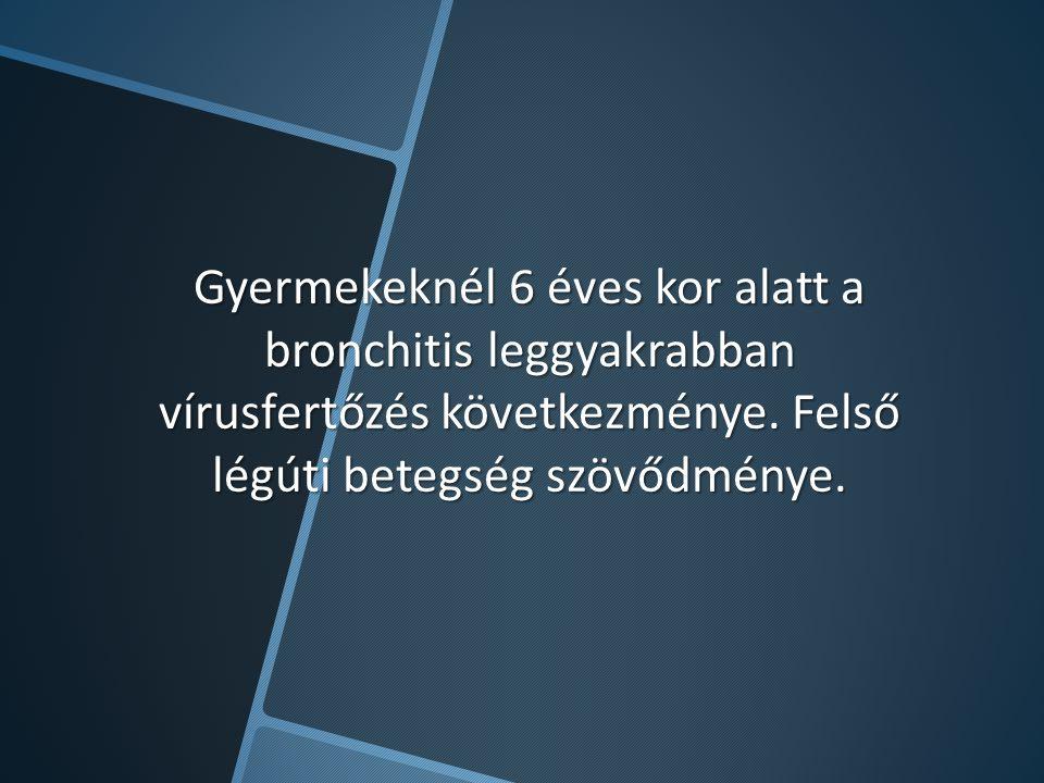 Gyermekeknél 6 éves kor alatt a bronchitis leggyakrabban vírusfertőzés következménye.
