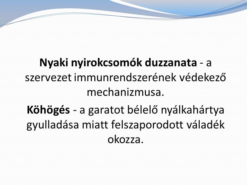 Nyaki nyirokcsomók duzzanata - a szervezet immunrendszerének védekező mechanizmusa.