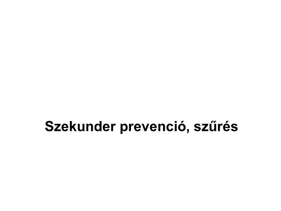 Szekunder prevenció, szűrés