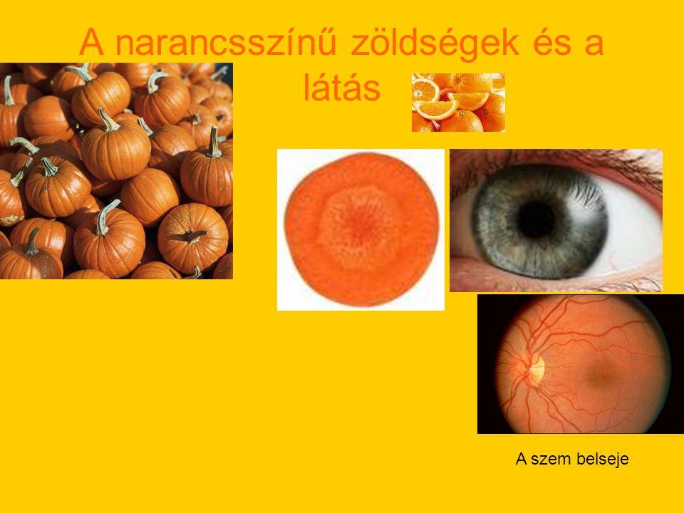 A narancsszínű zöldségek és a látás