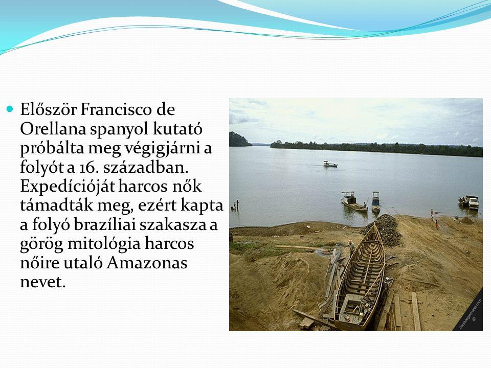 Először Francisco de Orellana spanyol kutató próbálta meg végigjárni a folyót a 16.