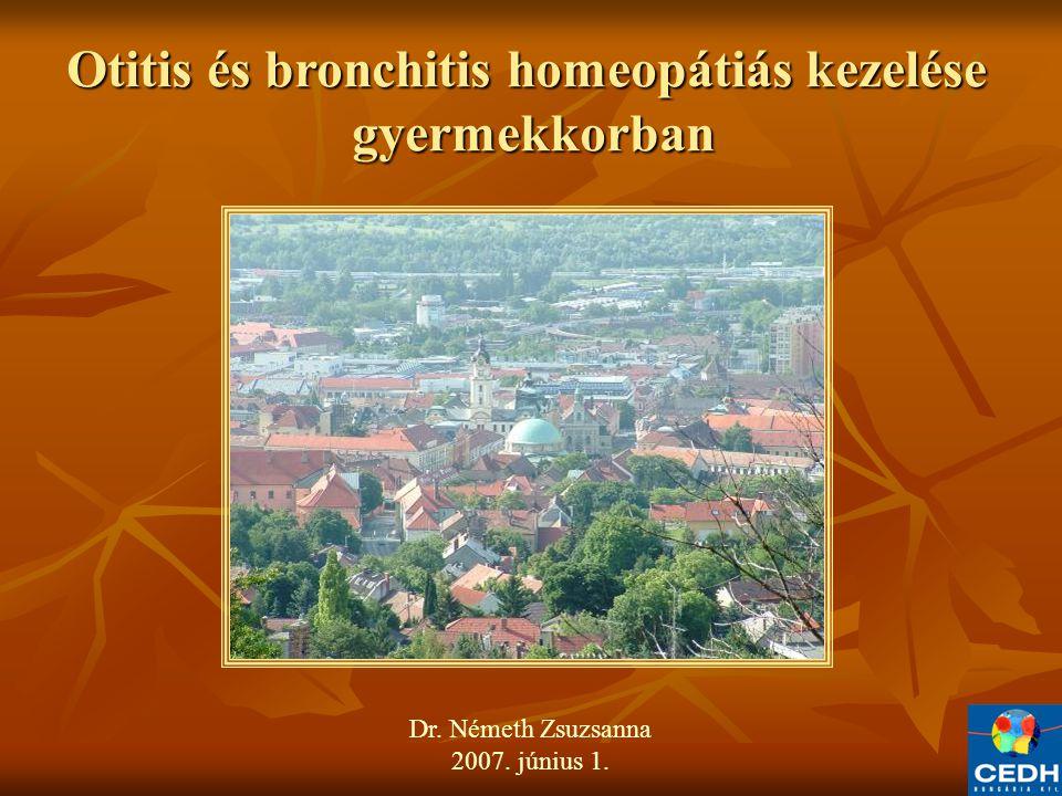 Otitis és bronchitis homeopátiás kezelése