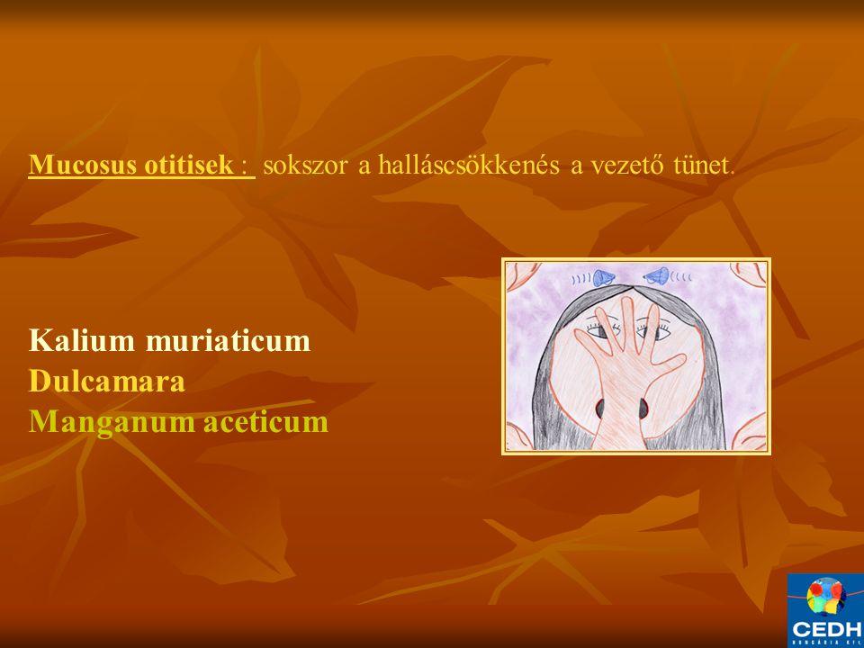 Kalium muriaticum Dulcamara Manganum aceticum
