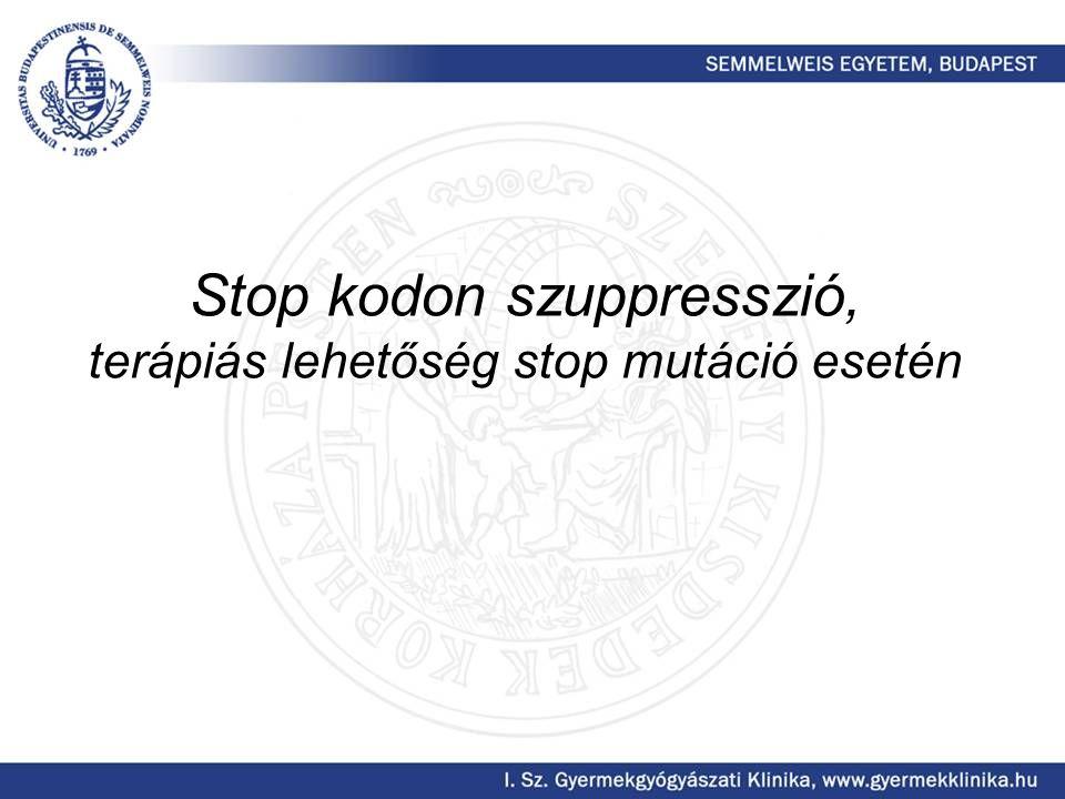 Stop kodon szuppresszió, terápiás lehetőség stop mutáció esetén