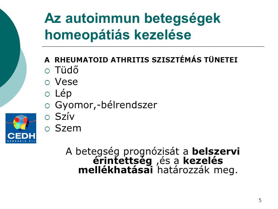 Az autoimmun betegségek homeopátiás kezelése