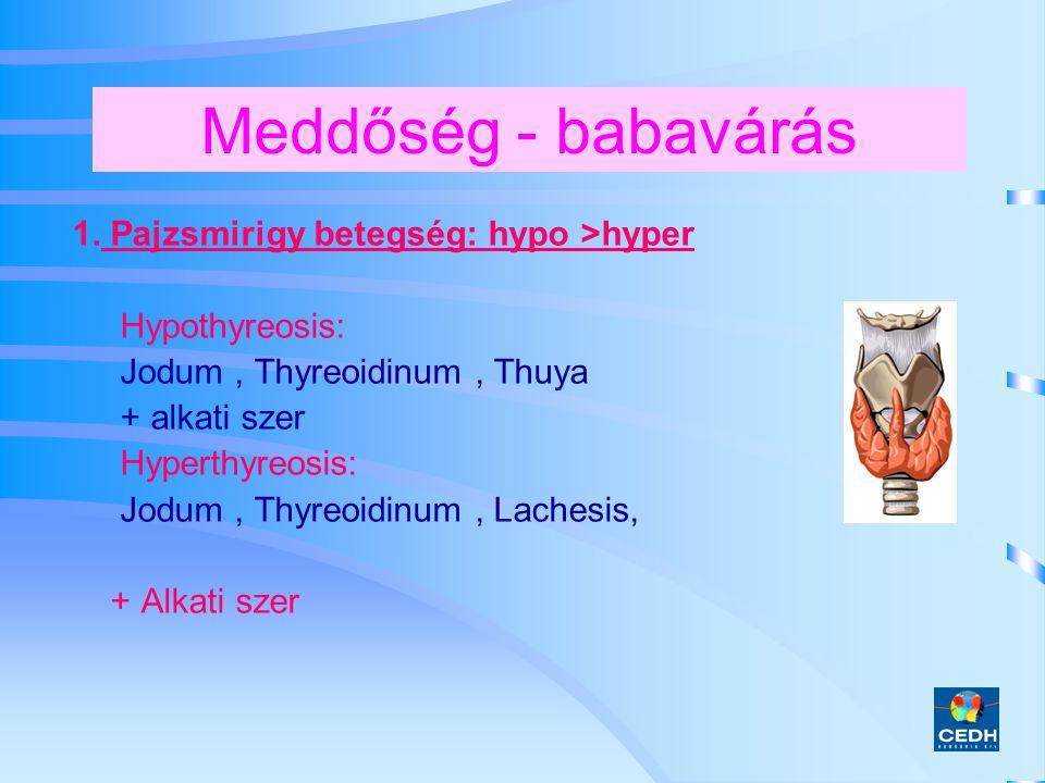 Meddőség - babavárás 1. Pajzsmirigy betegség: hypo >hyper