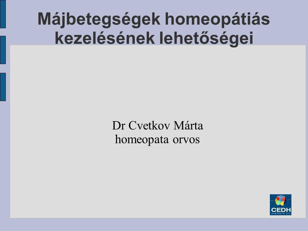 Májbetegségek homeopátiás kezelésének lehetőségei