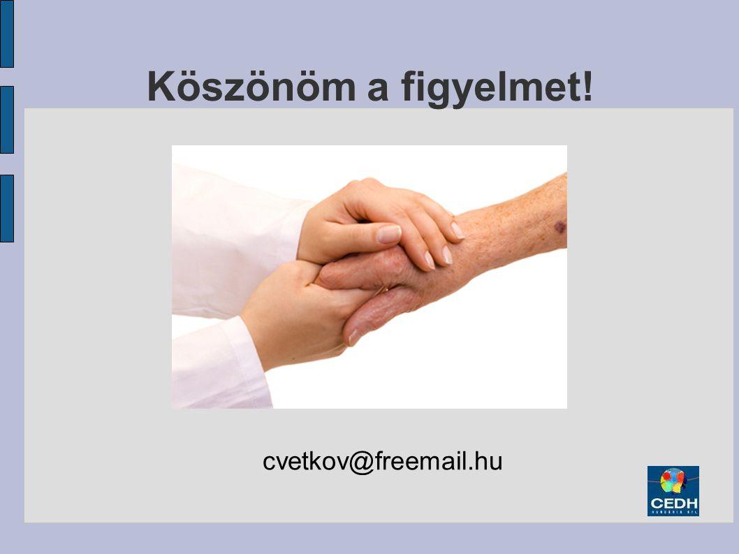 Köszönöm a figyelmet! cvetkov@freemail.hu