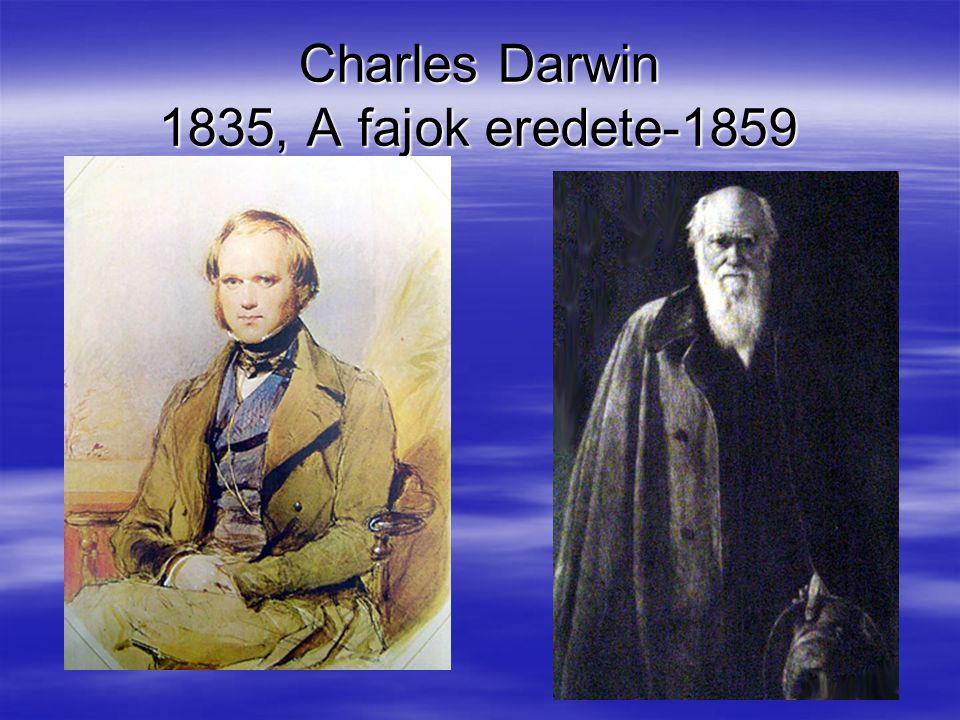 Charles Darwin 1835, A fajok eredete-1859