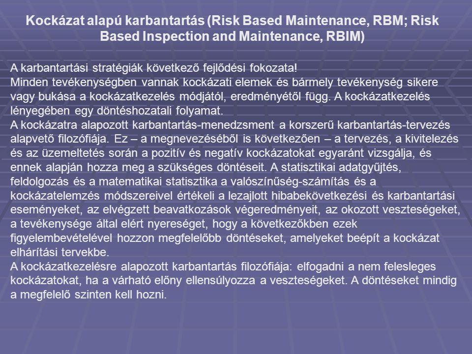 Kockázat alapú karbantartás (Risk Based Maintenance, RBM; Risk Based Inspection and Maintenance, RBIM)