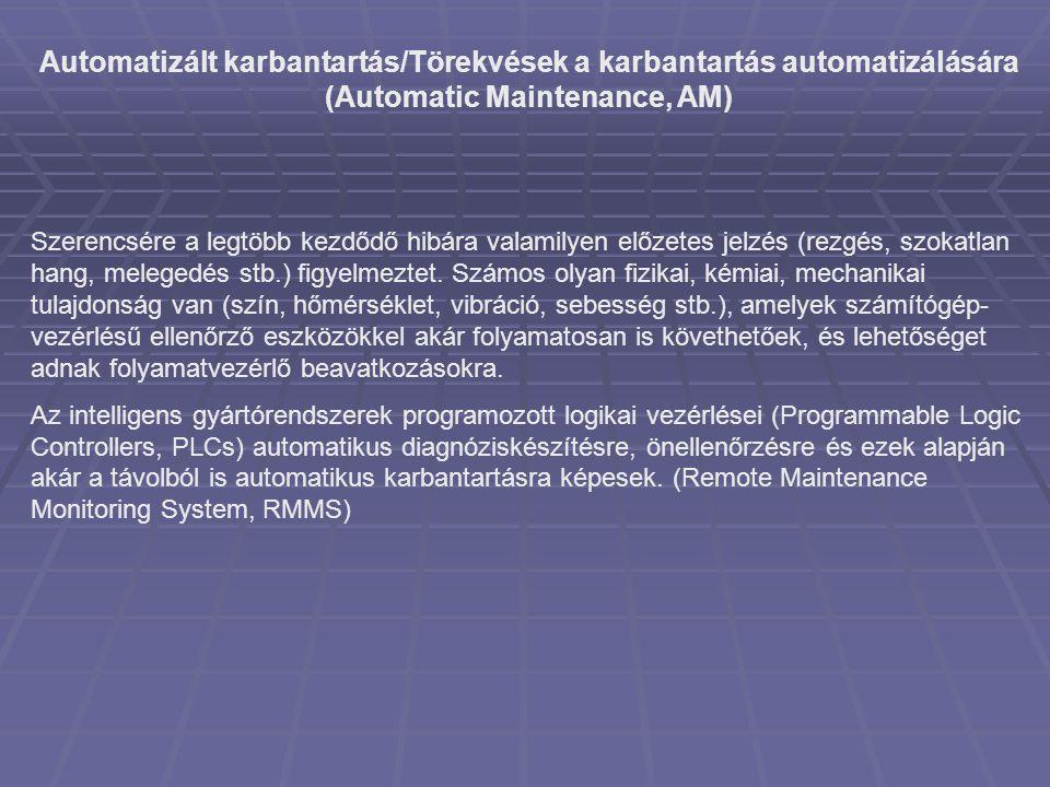 Automatizált karbantartás/Törekvések a karbantartás automatizálására (Automatic Maintenance, AM)
