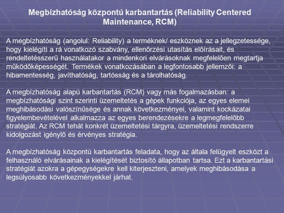 Megbízhatóság központú karbantartás (Reliability Centered Maintenance, RCM)