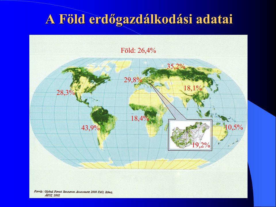 A Föld erdőgazdálkodási adatai