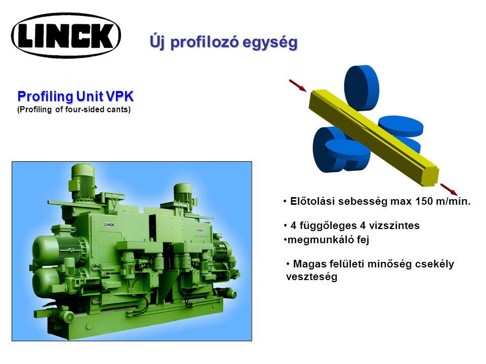 Új profilozó egység Profiling Unit VPK