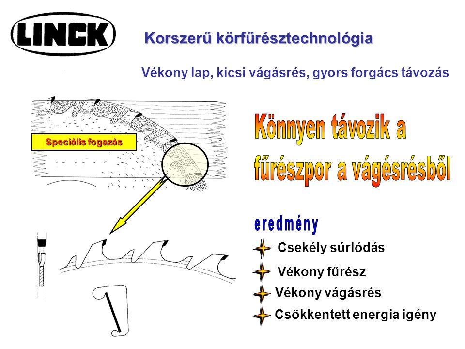 Korszerű körfűrésztechnológia