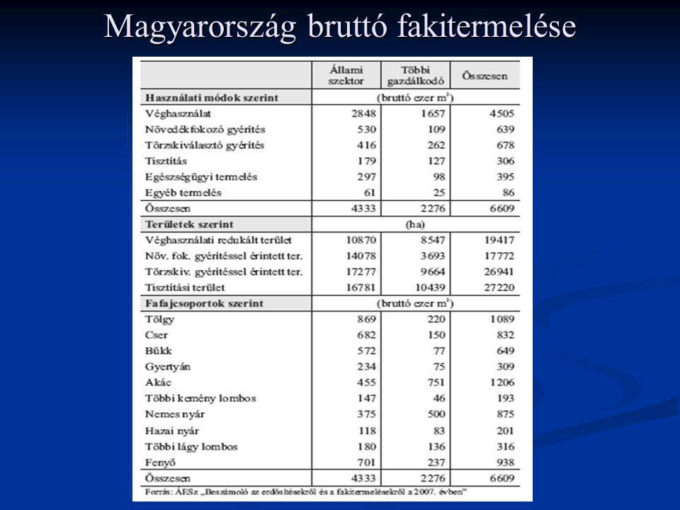 Magyarország bruttó fakitermelése