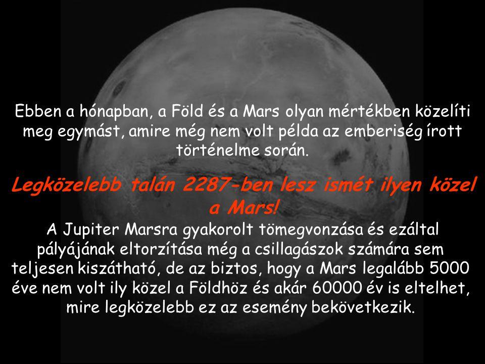 Legközelebb talán 2287-ben lesz ismét ilyen közel a Mars!