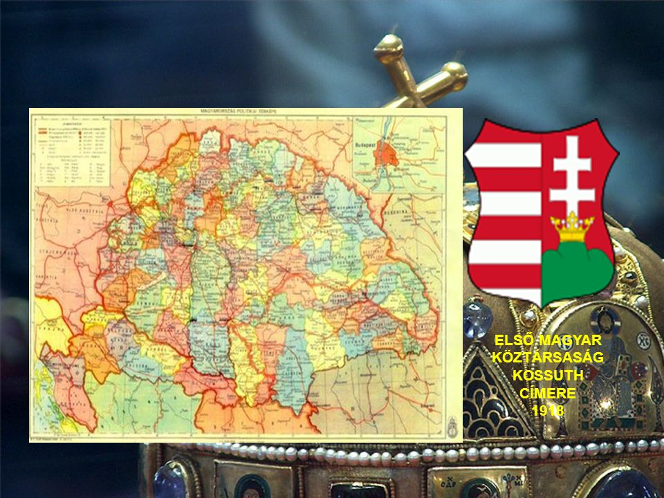 ELSŐ MAGYAR KÖZTÁRSASÁG KOSSUTH CÍMERE 1918
