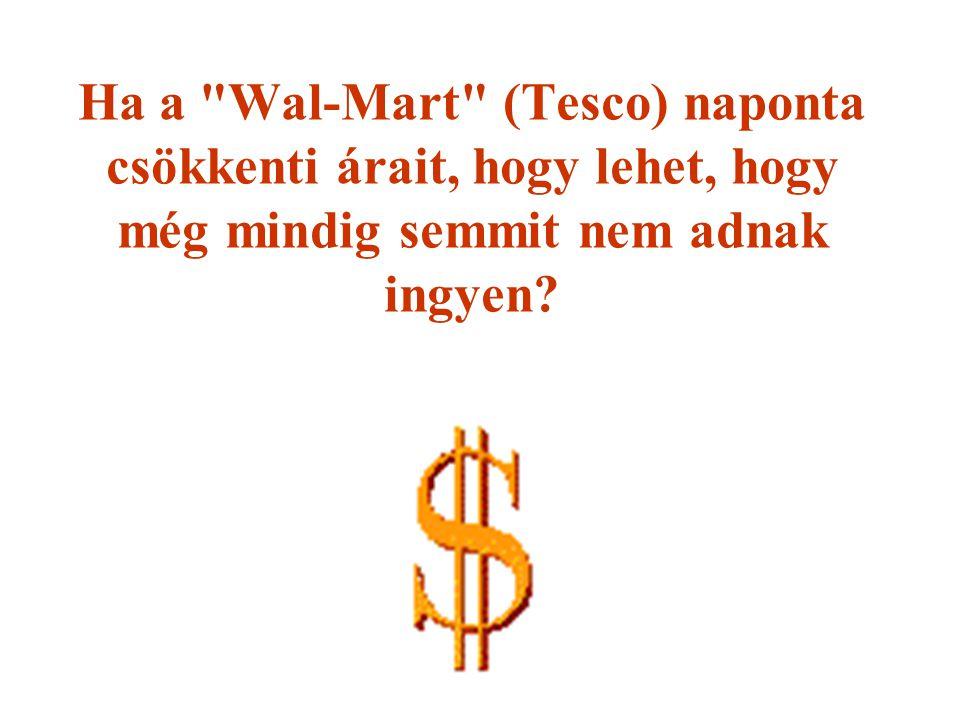 Ha a Wal-Mart (Tesco) naponta csökkenti árait, hogy lehet, hogy még mindig semmit nem adnak ingyen