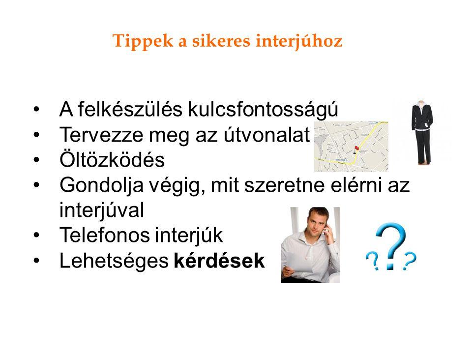 Tippek a sikeres interjúhoz