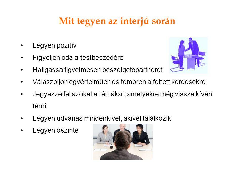 Mit tegyen az interjú során