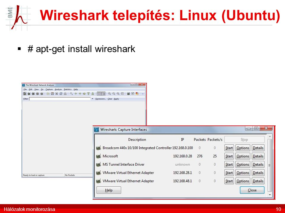 Wireshark telepítés: Linux (Ubuntu)