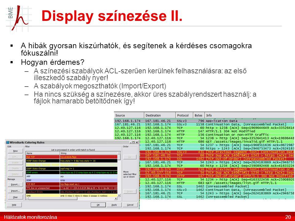 Display színezése II. A hibák gyorsan kiszúrhatók, és segítenek a kérdéses csomagokra fókuszálni! Hogyan érdemes