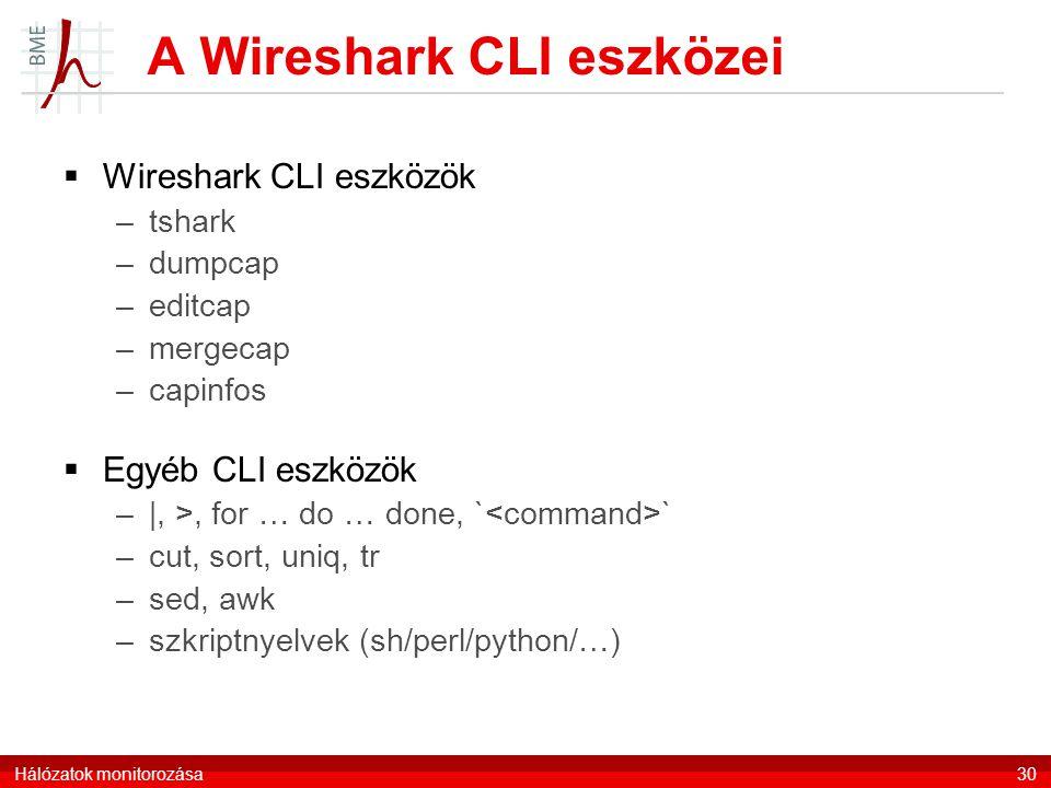 A Wireshark CLI eszközei