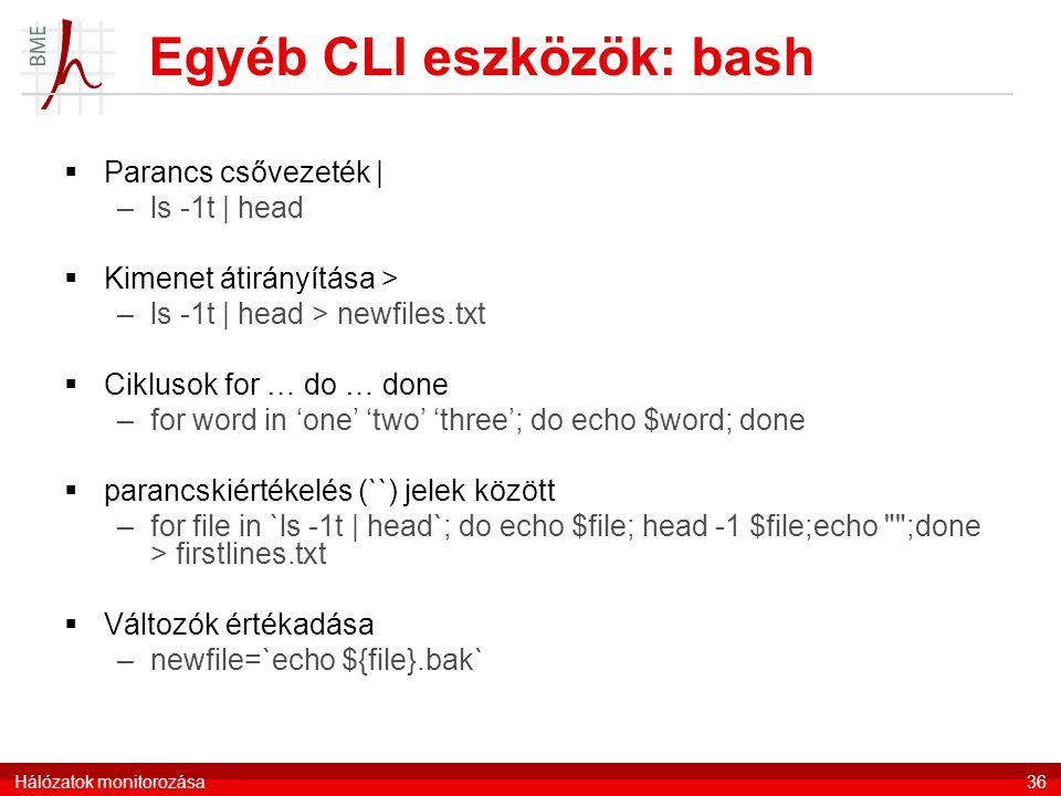 Egyéb CLI eszközök: bash