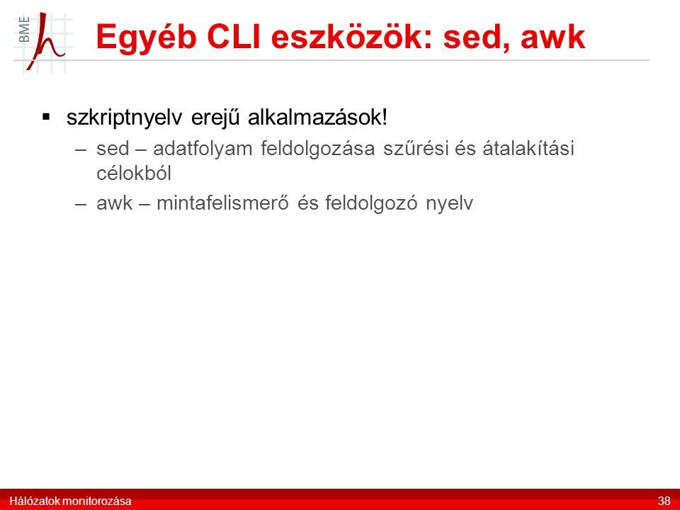 Egyéb CLI eszközök: sed, awk