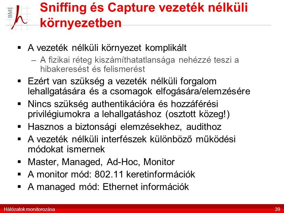 Sniffing és Capture vezeték nélküli környezetben