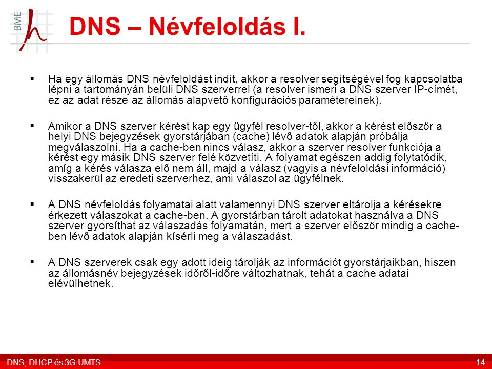 DNS – Névfeloldás I.