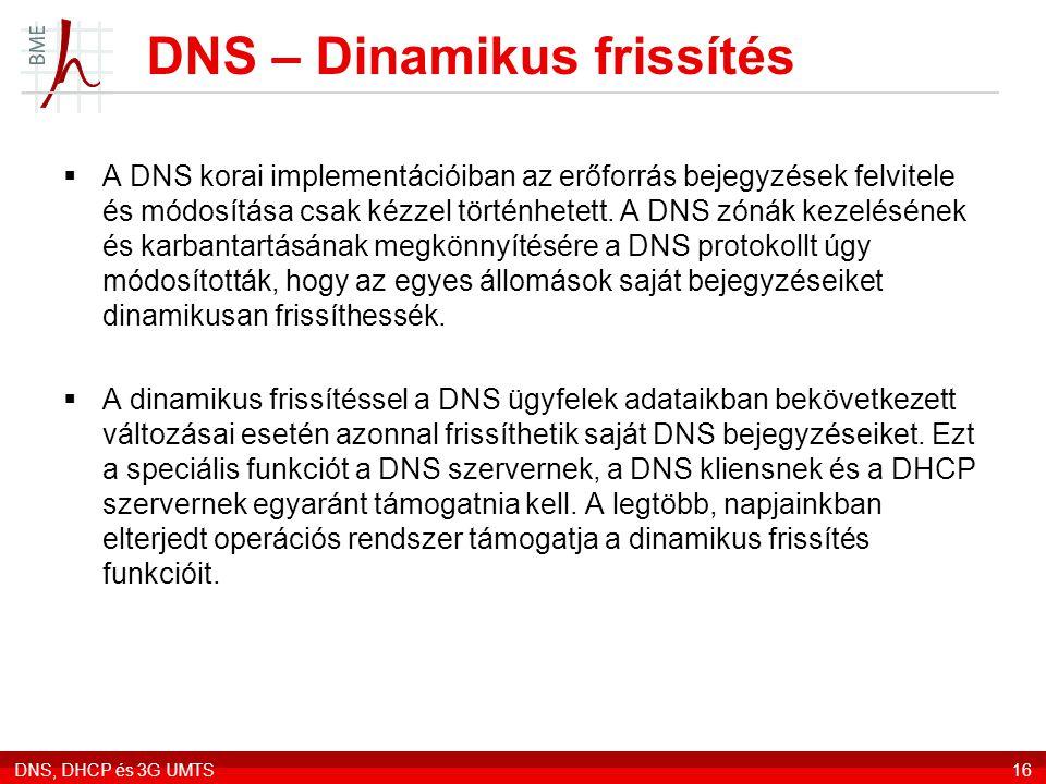 DNS – Dinamikus frissítés