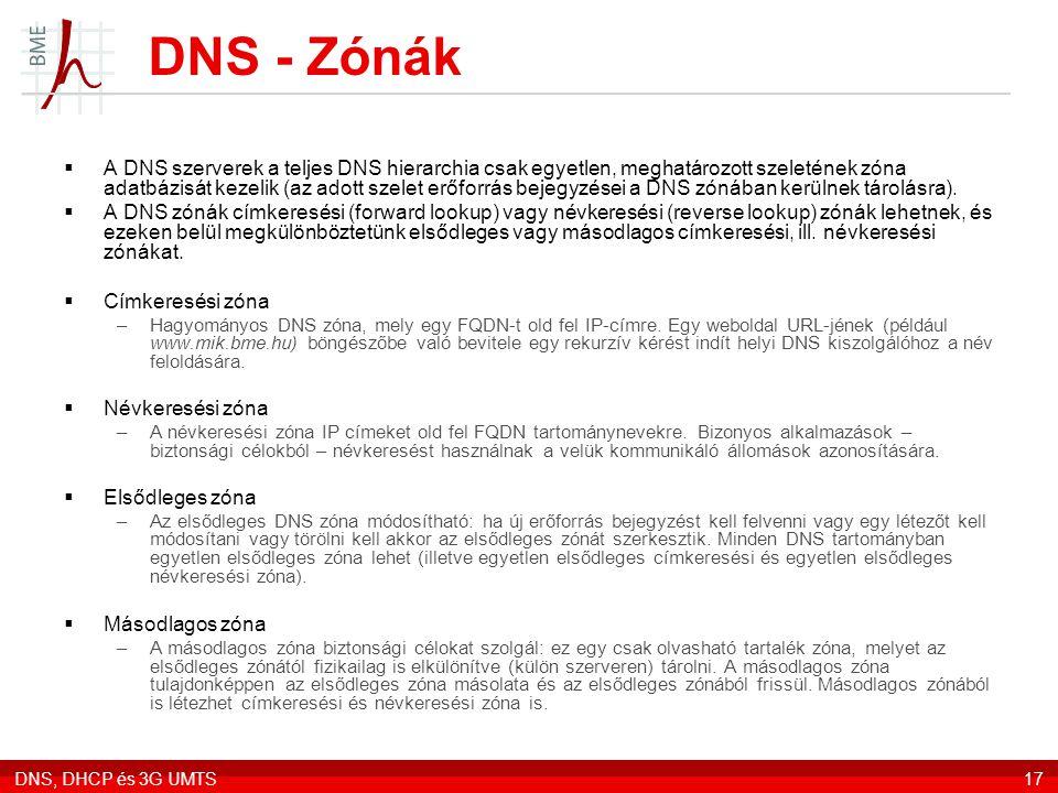 DNS - Zónák