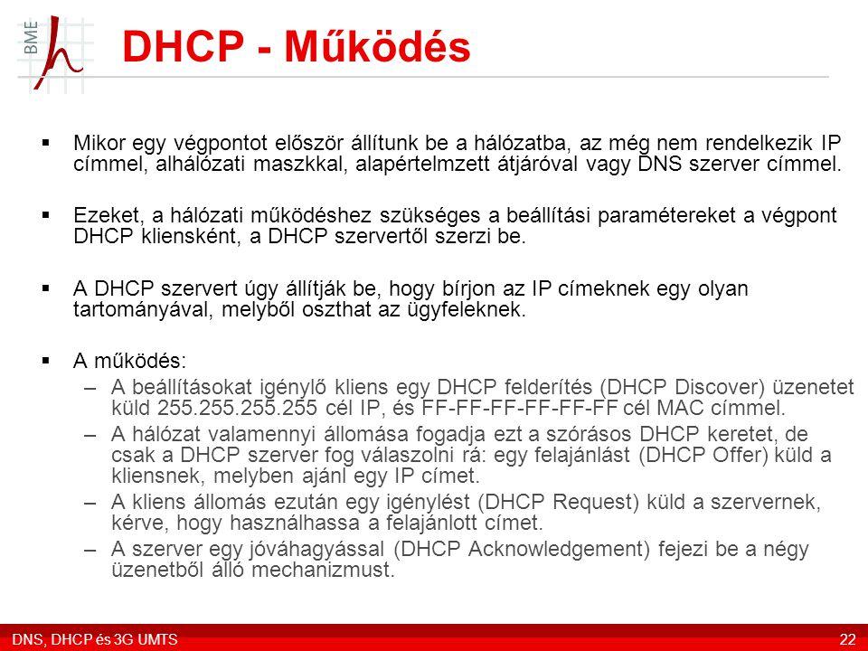 DHCP - Működés