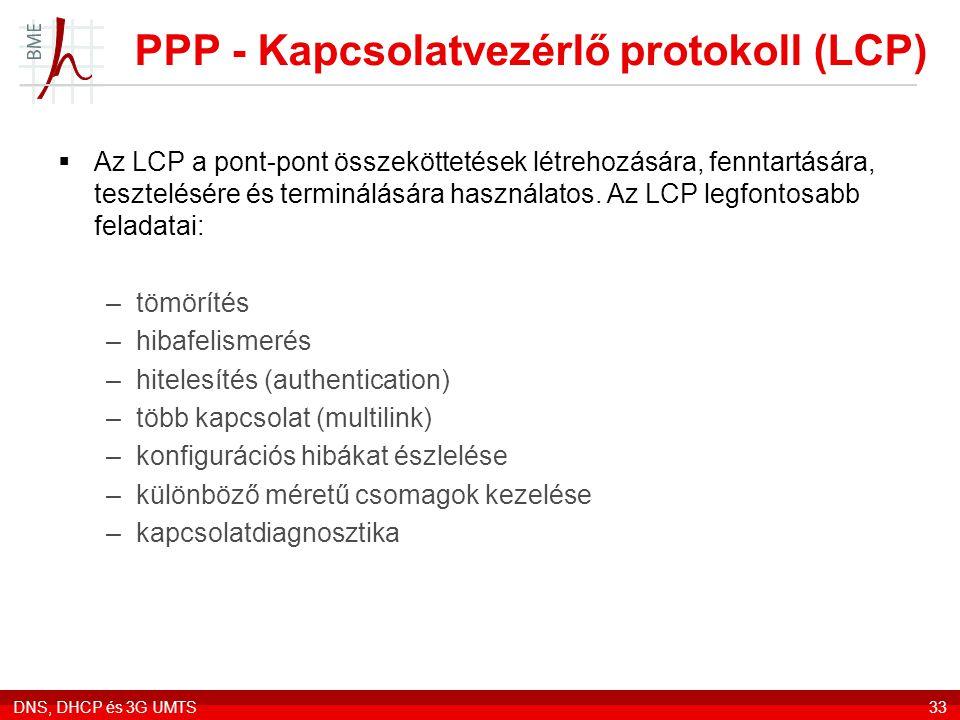 PPP - Kapcsolatvezérlő protokoll (LCP)