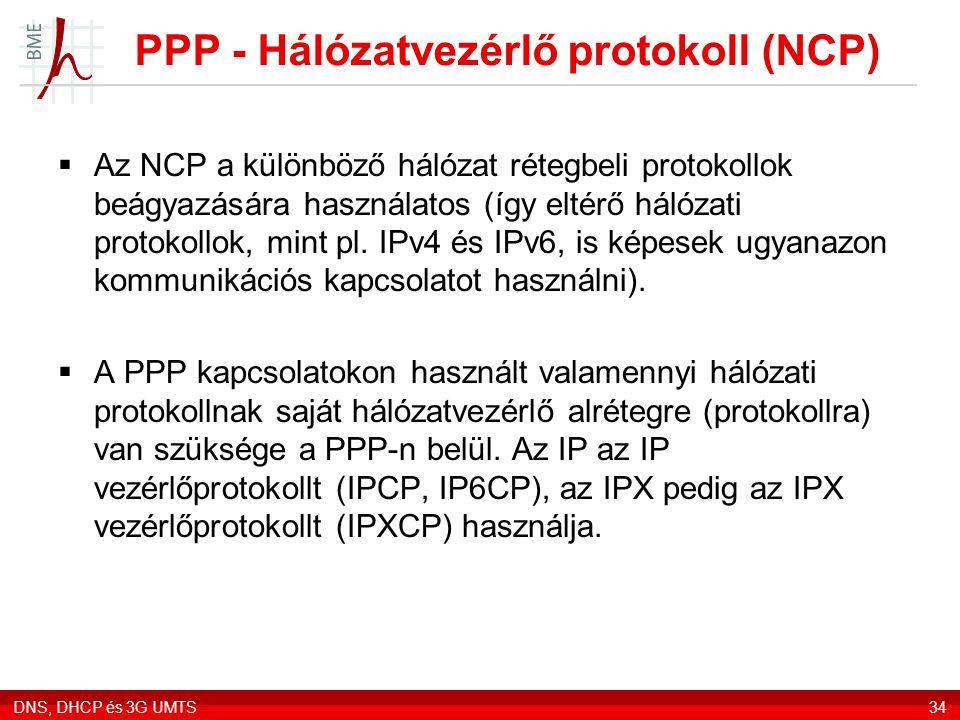 PPP - Hálózatvezérlő protokoll (NCP)