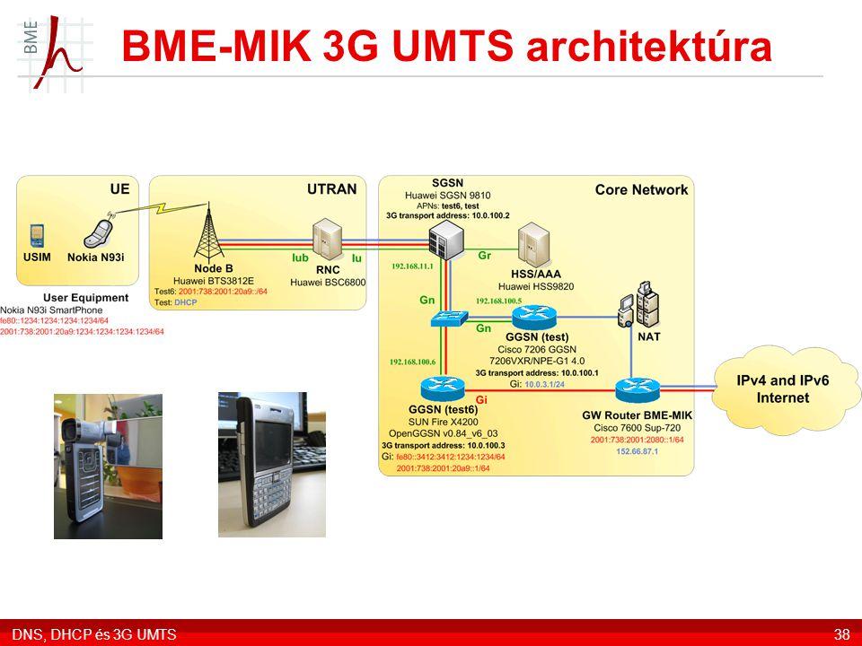 BME-MIK 3G UMTS architektúra