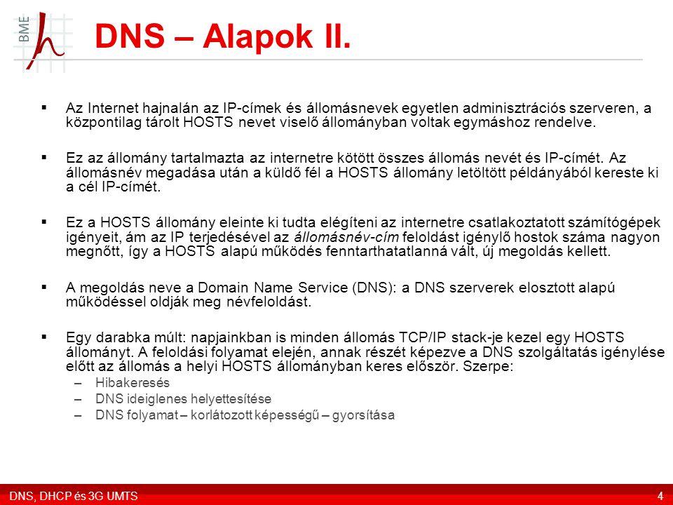 DNS – Alapok II.
