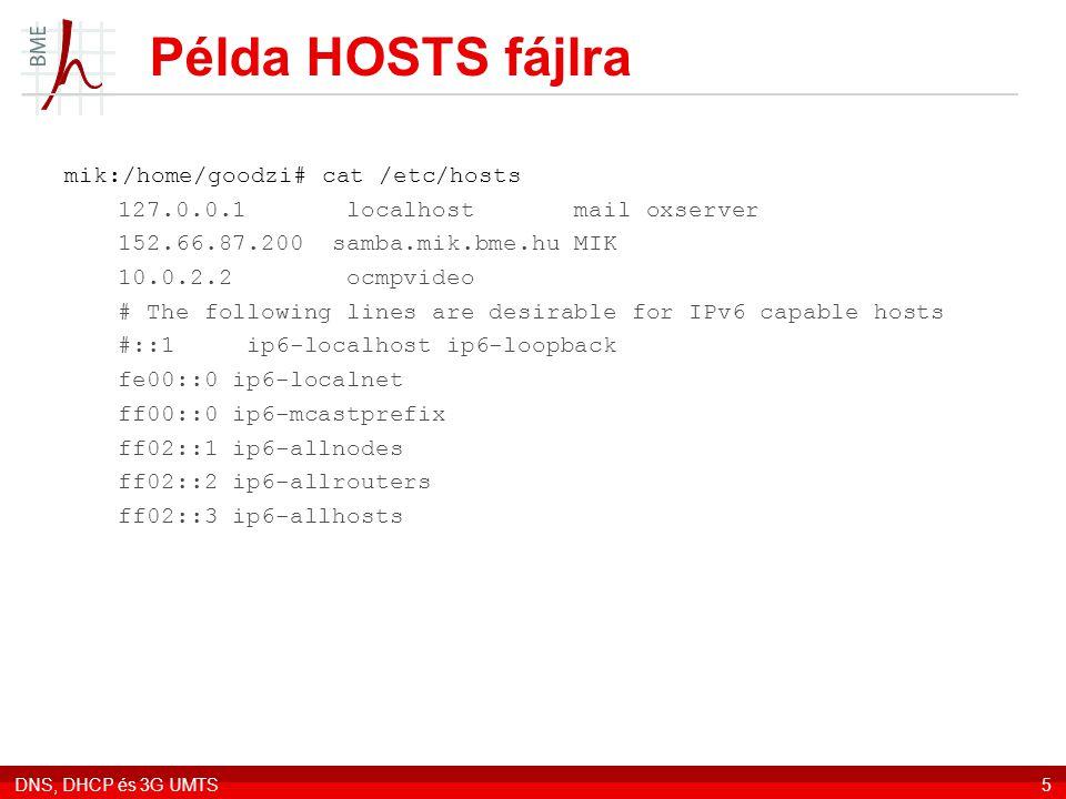 Példa HOSTS fájlra mik:/home/goodzi# cat /etc/hosts