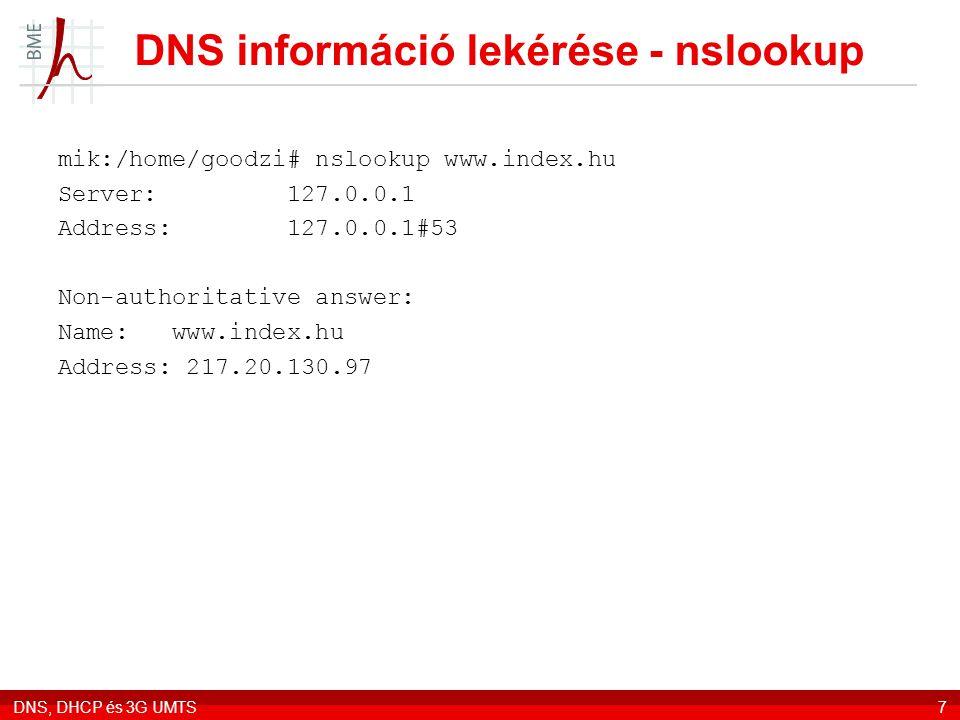 DNS információ lekérése - nslookup